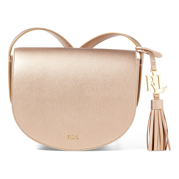 RALPH LAUREN lauren leather mini caley saddle bag - A streamlined shape gives this equestrian-inspired leather