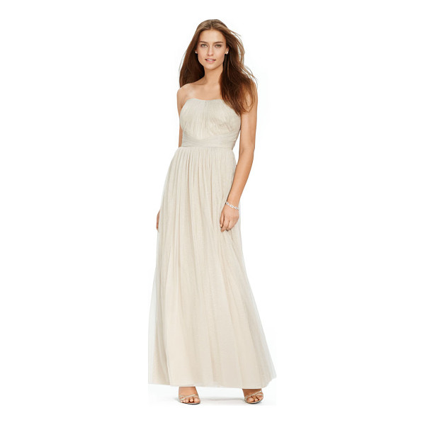 RALPH LAUREN lauren metallic tulle gown - With an exquisite pleated bodice and an alluring strapless...