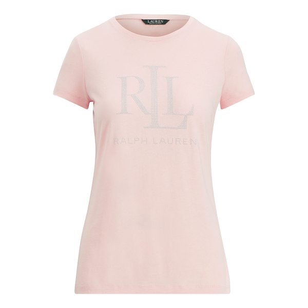 "RALPH LAUREN lauren microstud jersey t-shirt - The ""LRL Ralph Lauren"" appliqu on this T-shirt nods to our..."