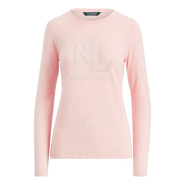 RALPH LAUREN lauren microstud long-sleeve t-shirt - In supersoft jersey, this classic long-sleeve T-shirt gets...