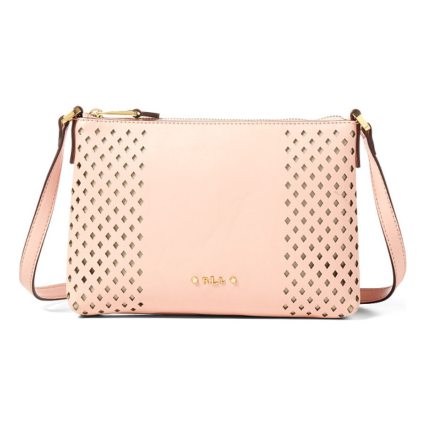 RALPH LAUREN lauren perforated tasmine crossbody - With a lightweight design and diamond-shaped cutouts, this
