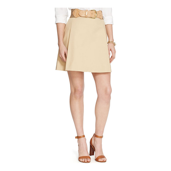 RALPH LAUREN lauren pleated cotton a-line skirt - Sweet meets sophisticated in this pleated A-line skirt. The...