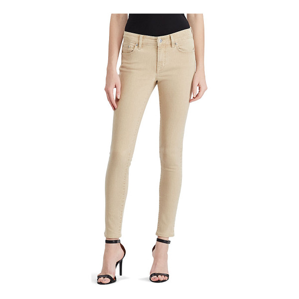 RALPH LAUREN lauren premier skinny ankle jean - Part of our superstretch collection, these jeans maintain...