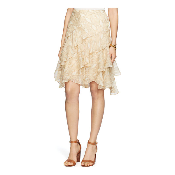 RALPH LAUREN lauren python-print ruffled skirt - A pale python print accentuates the allure of this ruffled...