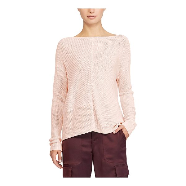 RALPH LAUREN lauren ribbed cotton-blend pullover - A mix of contrasting ribbed panels dial up the textural...