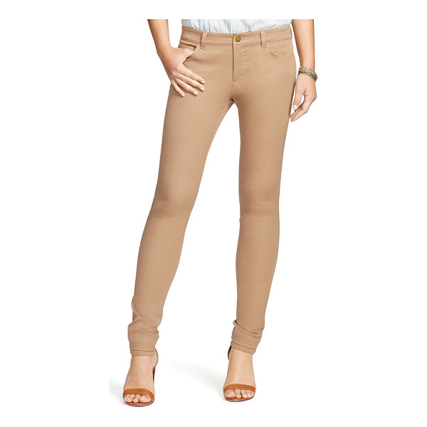 RALPH LAUREN lauren stretch cotton straight pant - In smooth stretch cotton twill, this straight-fitting pant...