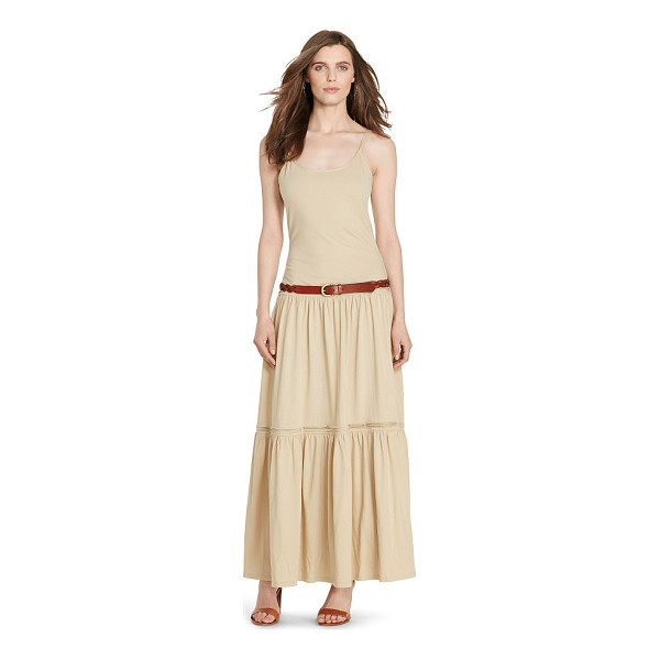 RALPH LAUREN lauren tiered cotton maxidress - In airy cotton, this breeze-catching maxidress channels a...