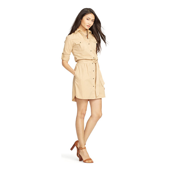 RALPH LAUREN lauren twill long-sleeve shirtdress - Taking its cues from utilitarian styles, this cotton twill...