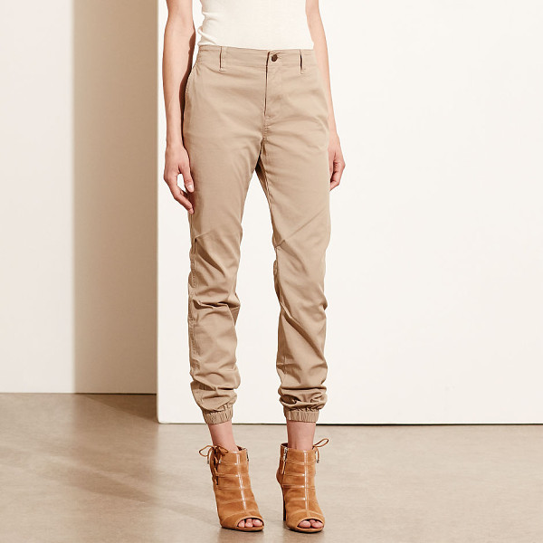 RALPH LAUREN lauren twill tapered-leg pant - In stretch cotton twill with an effortlessly chic drape,...