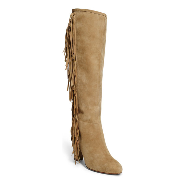 RALPH LAUREN lauren vanida suede knee-high boot - With a chic layer of fringe at the sides, our Vanida Suede...