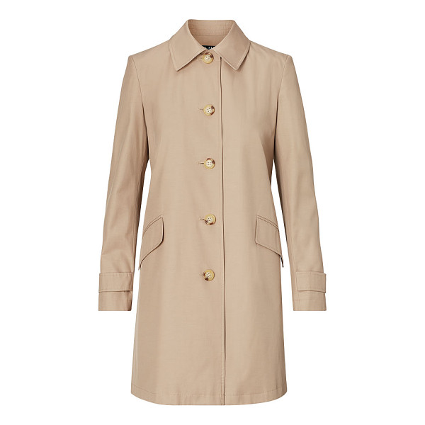 RALPH LAUREN lauren water-resistant coat - Sleek lines and a neutral hue make this water-resistant...
