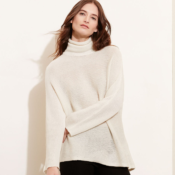 RALPH LAUREN lauren wool-cashmere sweater - A chic drape and a sumptuous feel make this sweater a...