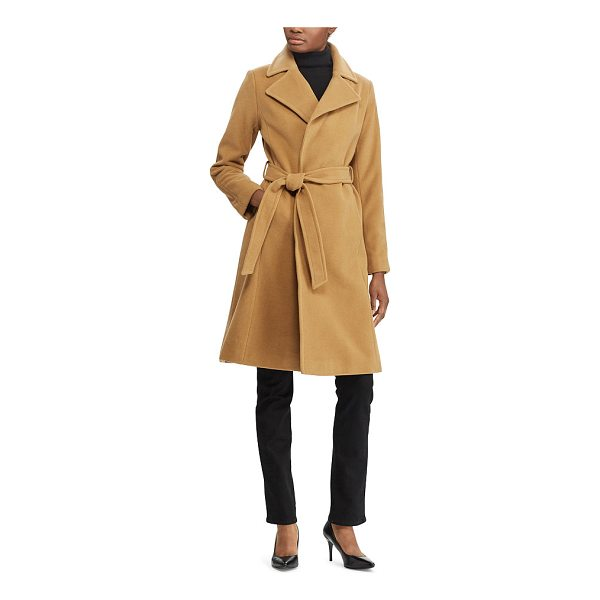 RALPH LAUREN lauren wool-cashmere wrap coat - In a luxe wool-and-cashmere blend, this coat's wrap...