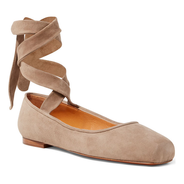 RALPH LAUREN lonnie suede ballet flat - Inspired by the pointe shoes worn by ballet dancers, this...