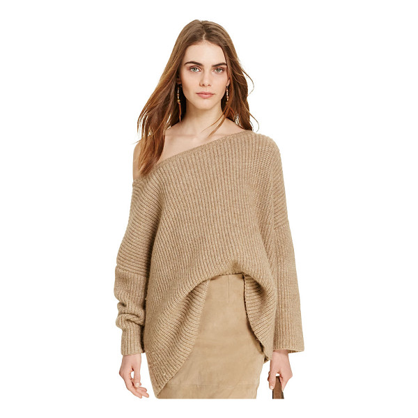 RALPH LAUREN polo  alpaca-blend boatneck sweater - The season's signature camel hue and a relaxed fit add...