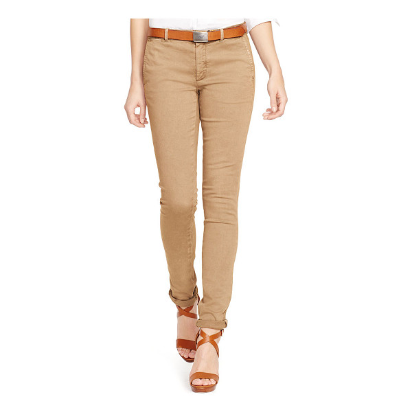 RALPH LAUREN polo  brooke skinny chino - Classic chino styling meets a modern skinny fit in the...