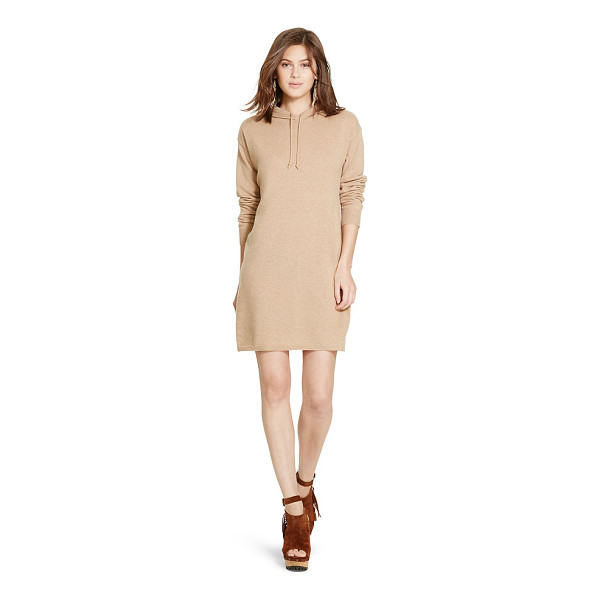 RALPH LAUREN polo  cashmere hooded dress - Combining the luxe allure of cashmere with the athletic...