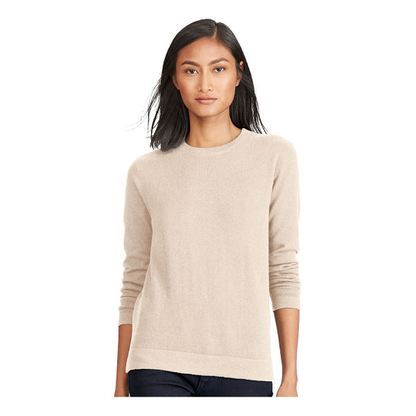 RALPH LAUREN polo  cashmere jersey sweater - Lightweight Italian cashmere brings the crewneck into chic...
