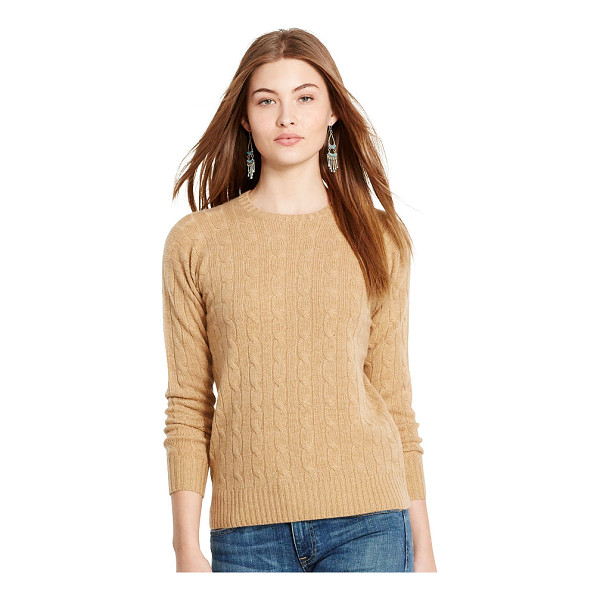 RALPH LAUREN polo  classic cable cashmere sweater - A heritage-inspired cable knit meets irresistibly soft...