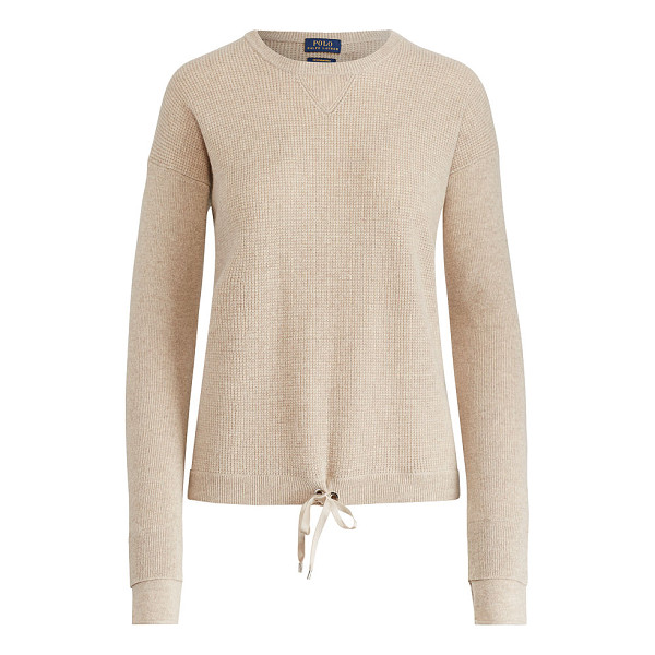 RALPH LAUREN polo  drawstring cashmere sweater - In airy cashmere with our moisture-wicking ThermoVent...