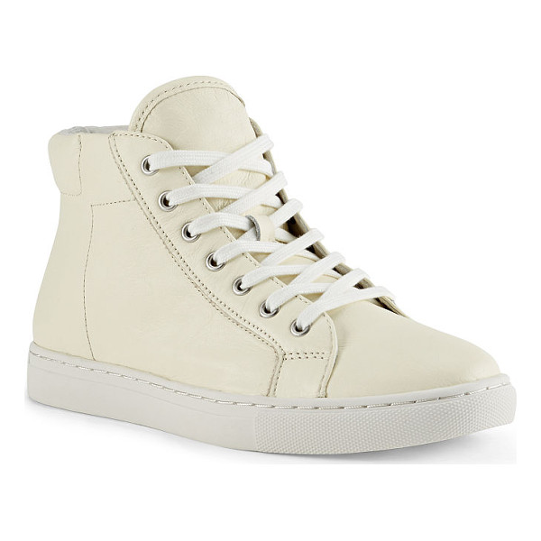 RALPH LAUREN polo  dree nappa high-top sneaker - The classic high-top sneaker gets the Polo treatment with a...
