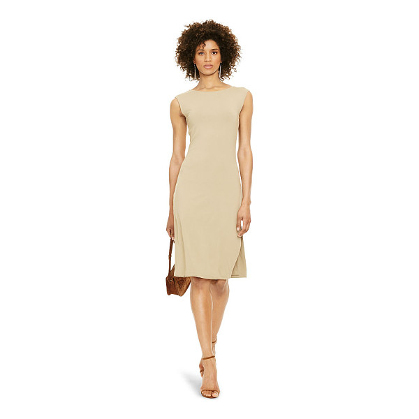RALPH LAUREN polo  jersey sheath dress - In the Fall Polo collection's neutral palette, this jersey...