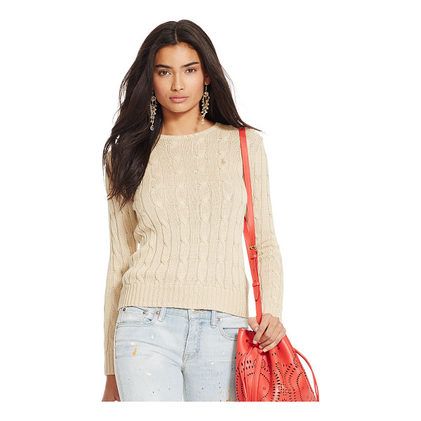 RALPH LAUREN polo  cable-knit crewneck sweater - A slim fit and a textural cable-knit construction make this...