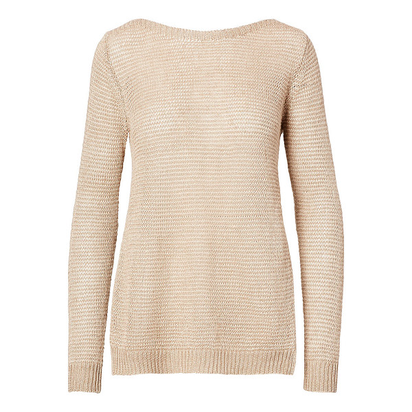 RALPH LAUREN polo  linen boatneck sweater - Open-knit from textural linen, this chic sweater drapes...