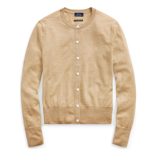 RALPH LAUREN polo  merino wool cardigan - Knit from Italian merino wool and finished with our...