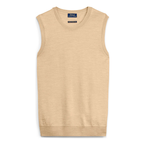 RALPH LAUREN polo  merino wool sleeveless sweater - Knit from Italian merino wool and finished with a signature...