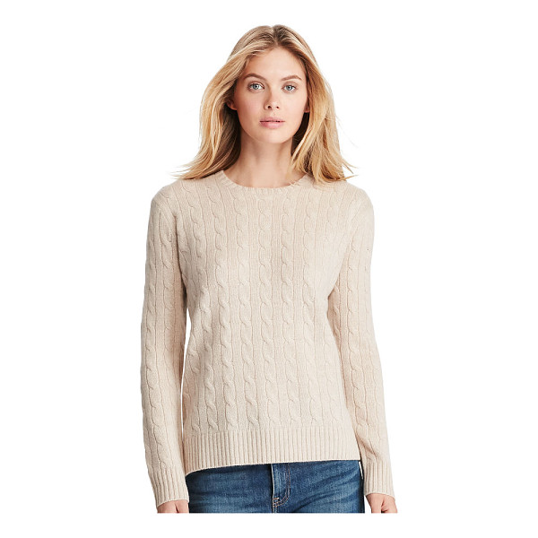 RALPH LAUREN polo  cable-knit cashmere sweater - A pure Polo style with a supersoft feel, this cable-knit...