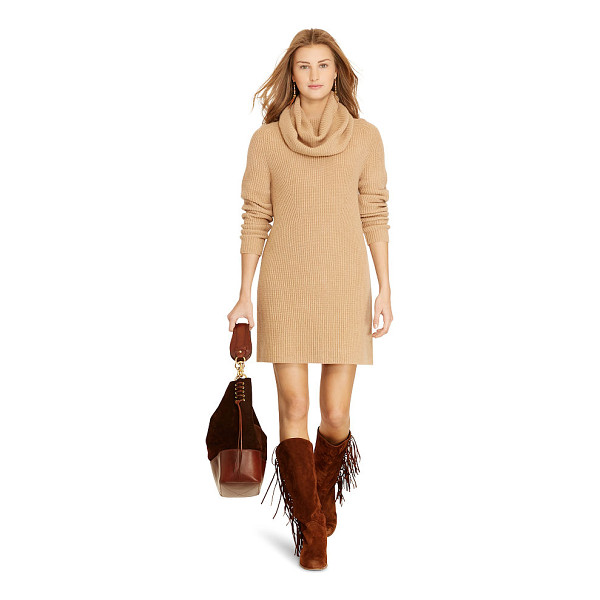 RALPH LAUREN polo  wool-cashmere turtleneck dress - This dress' oversized turtleneck and luxe wool-and-cashmere...