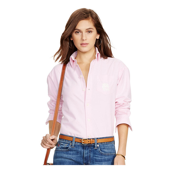 RALPH LAUREN polo  relaxed classic monogram shirt - In soft cotton oxford, this slightly oversized shirt is a...
