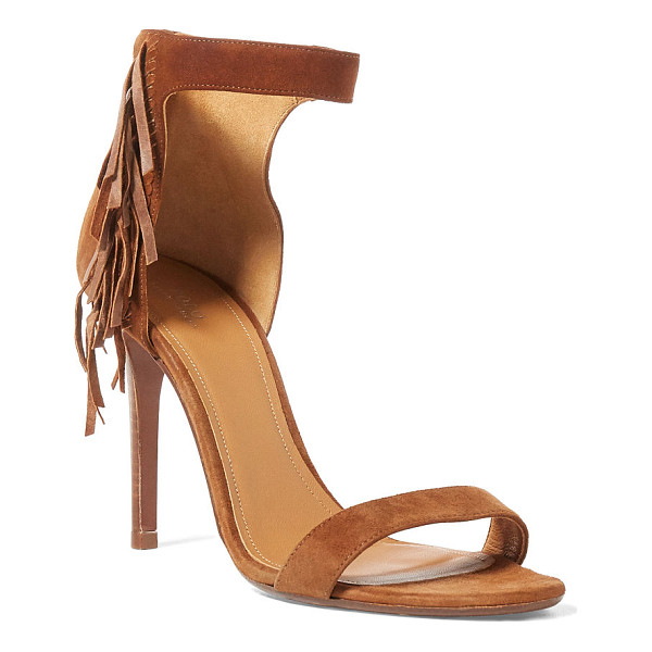 RALPH LAUREN polo  shiloh fringed suede - With a sexy 4-inch heel and a bit of fringe, this