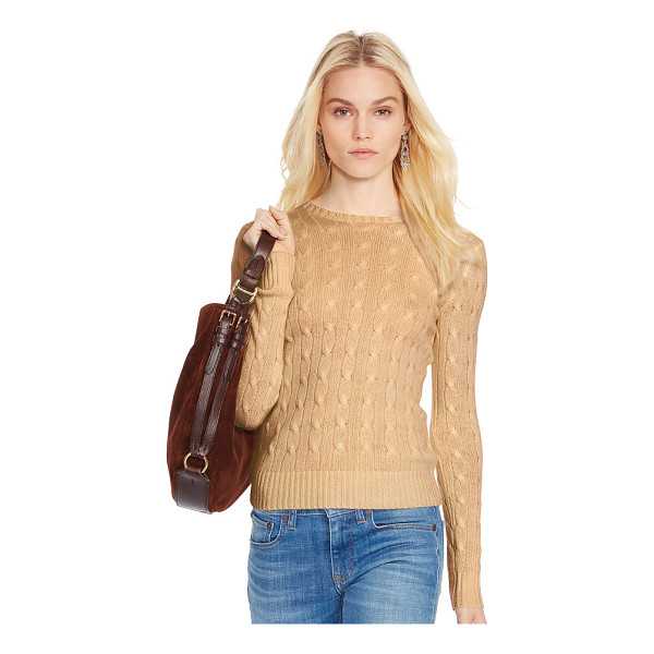 RALPH LAUREN polo  cable-knit cashmere sweater - Inspired by fishermen's ropes, the cable-knit sweater's...