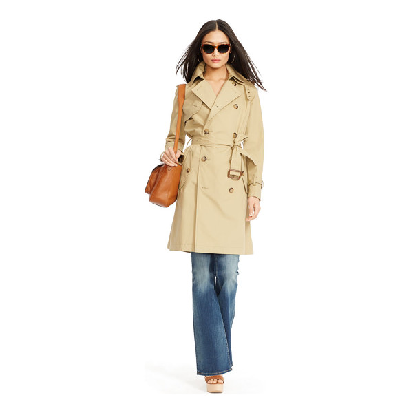 RALPH LAUREN polo  slim-fit cotton trench coat - The perfect transitional coat, our versatile cotton trench...