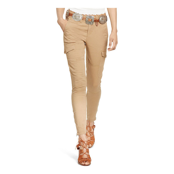 RALPH LAUREN polo  stretch twill cargo pant - Cargo pockets and a skinny fit highlight this stretch twill...