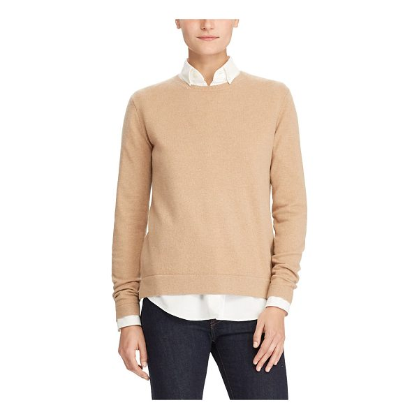 RALPH LAUREN polo  washable cashmere sweater - This update to the essential crewneck sweater is spun from...