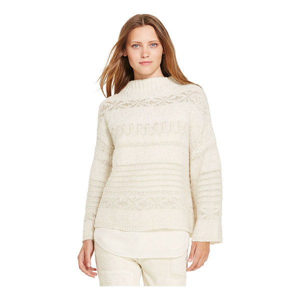 RALPH LAUREN polo  wool-alpaca boatneck sweater - Jacquard-knit from a sumptuous, soft wool-and-alpaca blend...