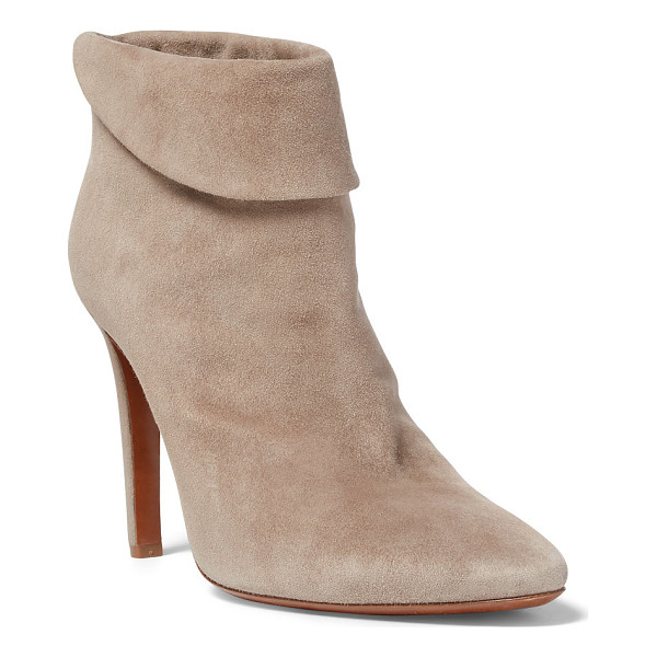 RALPH LAUREN torrance suede bootie - Inspired by the muted palette and pure silhouettes of the...