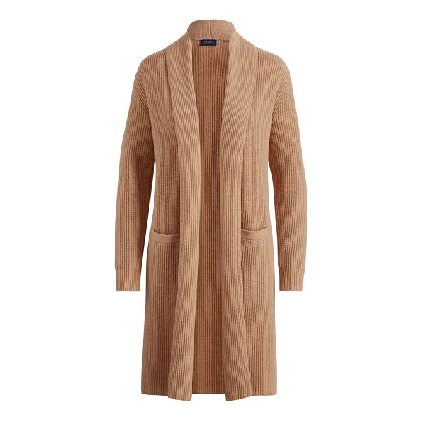 RALPH LAUREN wool-cashmere cardigan - Elongated fit. Intended to hit at the knee. Size medium has...