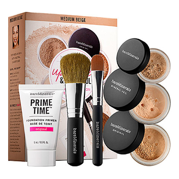 BAREMINERALS up close & beautiful: 30 day complexion starter kit medium beige - A skin-smoothing, 30-day starter kit with a foundation...