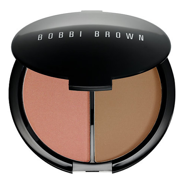 BOBBI BROWN face & body bronzing duo antigua/ golden light - A face and body bronzing compact with two powder shades...