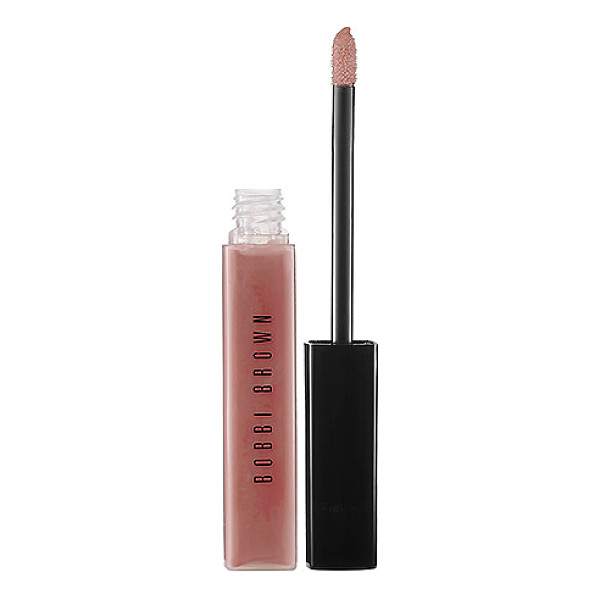 BOBBI BROWN lip gloss nude 0.24 oz/ 7 ml - A lip gloss with a sheer, non-sticky shine with a hint of...