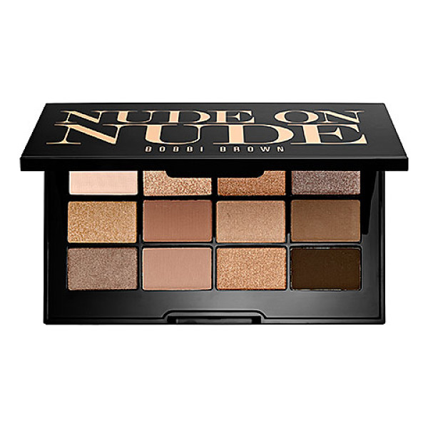 BOBBI BROWN nude on nude palette - A palette of 12 buildable shadows in three finishes for the...