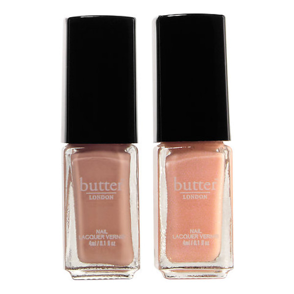 BUTTER LONDON best dressed nail duo set - A two-piece set of flirty pink nail polishes with a hint of...