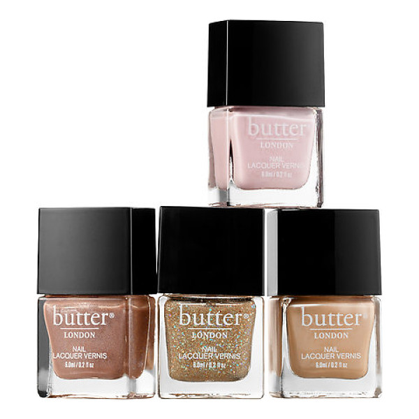 BUTTER LONDON glitz & glam 4-piece nail lacquer collection - A four-piece nail polish set with three chic pastel shades...