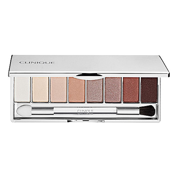 CLINIQUE all about shadow 8-pan palette neutral territory 2 - A deluxe palette with eight versatile eye shadows for day...