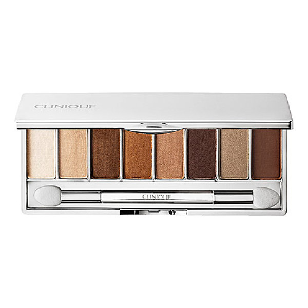 CLINIQUE all about shadow 8-pan palette wear everywhere nudes - A deluxe palette with eight versatile eye shadows for day...