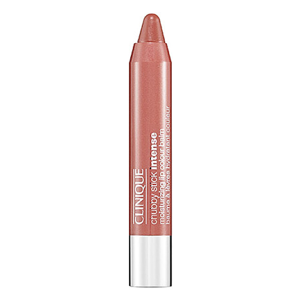 CLINIQUE chubby stick intense moisturizing lip colour balm 01 curviest caramel 0.1 oz/ 3 g - A nourishing tinted lip balm halfway between sheer and...